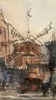 FRANK-WILL - Drawing-Watercolor - Moulin Rouge