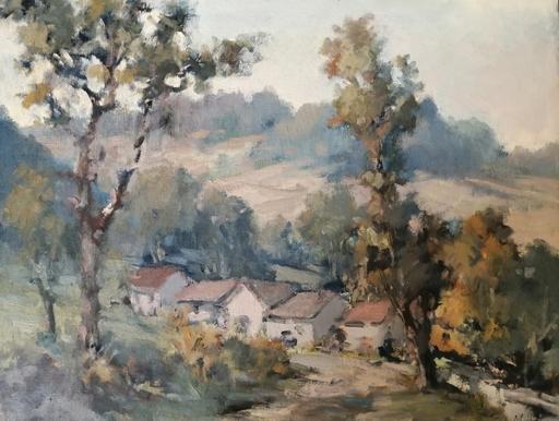 Edmond Amédée MELOT - Pintura - Hameau en Provence