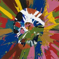 Damien HIRST - Pintura - Beautiful paper skull spin