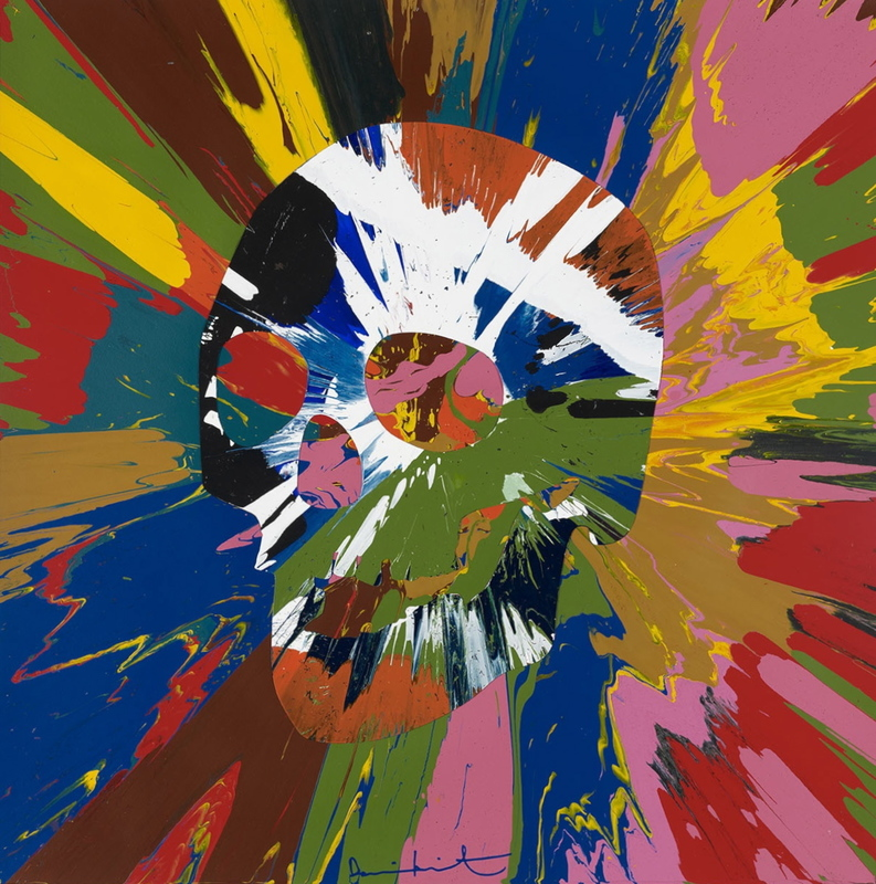 Damien HIRST - Painting - Beautiful paper skull spin