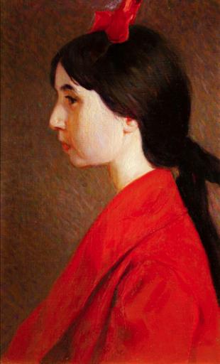 Umberto BOTTAZZI - Gemälde - La figlia Carlotta (1917)