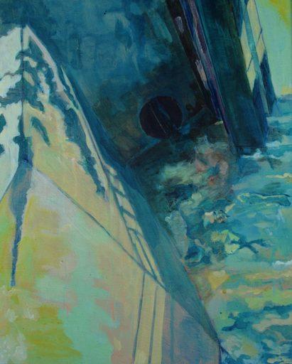 """Aude MOUILLOT - Painting - """"Focus Etang #6"""""""