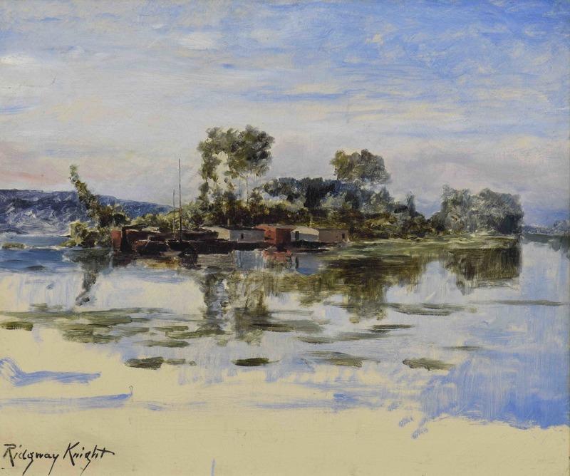 Daniel Ridgway KNIGHT - Painting - The Island