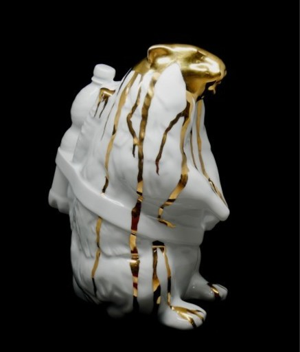 William SWEETLOVE - Sculpture-Volume - Cloned Marmot with Gold