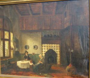 Clemens PRÜSSEN - Gemälde - In der Stube