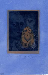 Ernst FUCHS - Druckgrafik-Multiple - Selbstporträt III