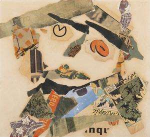 Gaston CHAISSAC - Drawing-Watercolor - Composition à une tête