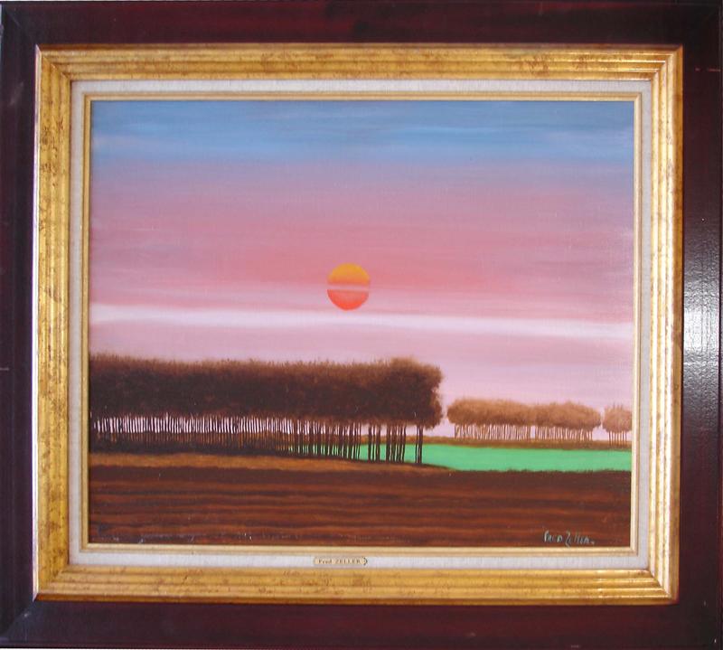 Fred ZELLER - Pittura - Le Coucher De Soleil