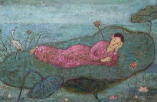 JIA Juanli - Peinture - Le rêve du nymphéa