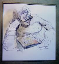 Jacques SEGAL - Dibujo Acuarela -  VICTORIA