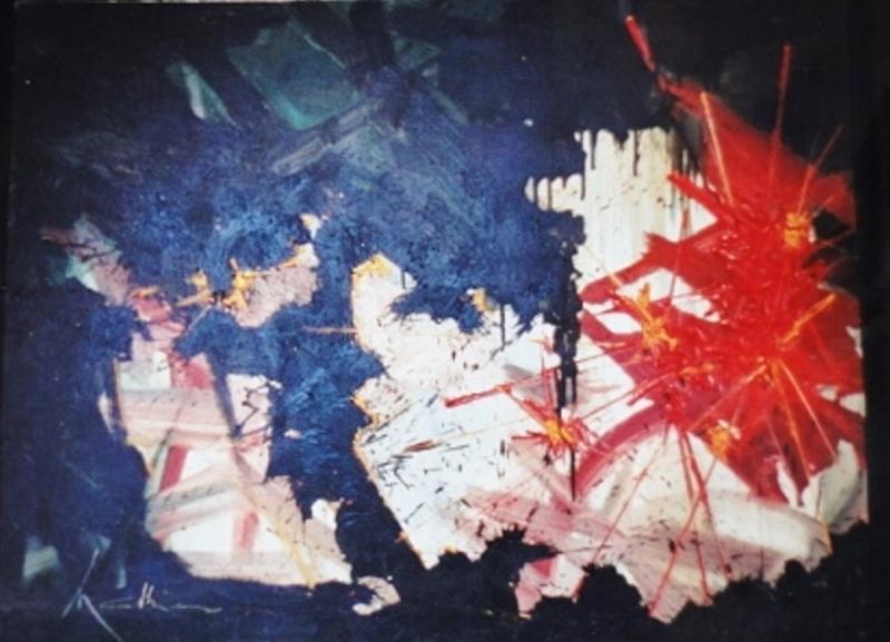 Georges MATHIEU - Peinture - Clarté étrangère