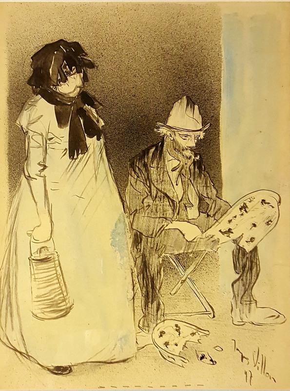 Jacques VILLON - Dessin-Aquarelle - le peintre