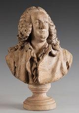 Jean-Jacques CAFFIERI - Sculpture-Volume - « Buste de Jean-Baptiste Rousseau (1671 – 1741) »