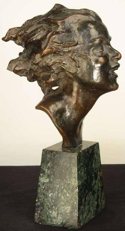 Joseph C. MOTTO - Skulptur Volumen - Head of a young woman
