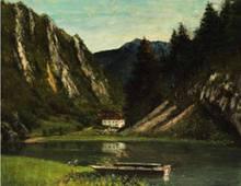 Gustave COURBET - Pintura - Le Doubs à la Maison Monsieur