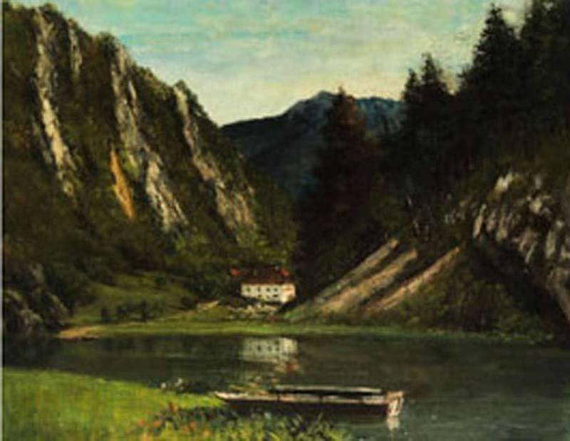 Gustave COURBET - Peinture - Le Doubs à la Maison Monsieur