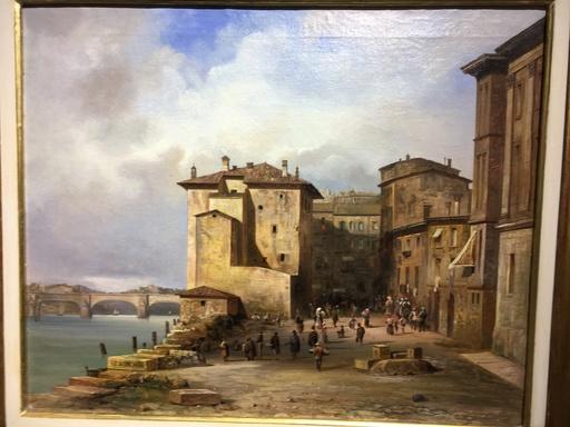 Johann Friedrich STOCK - Peinture - Lungo Adige a Verona
