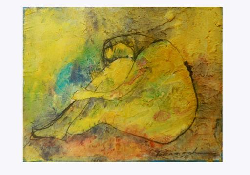 Miyuki TAKANASHI - Gemälde - Holding Knee 2