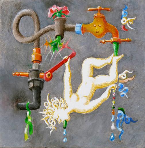 Michel CONSTANT - Painting - LE ROBINET AMOUREUX