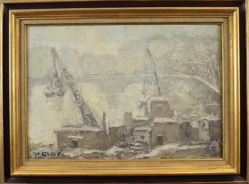 Paulette GENET - Peinture - Quai de Seine à Paris