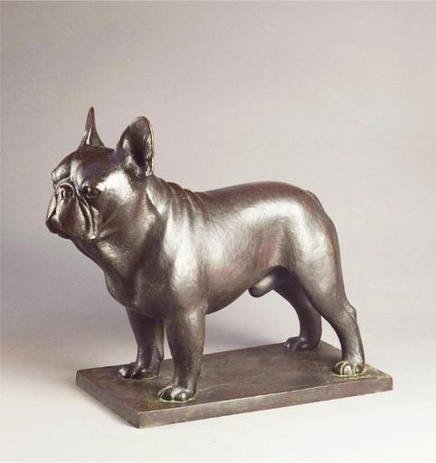 Armand PETERSEN - Sculpture-Volume - Chien, Bouledogue français