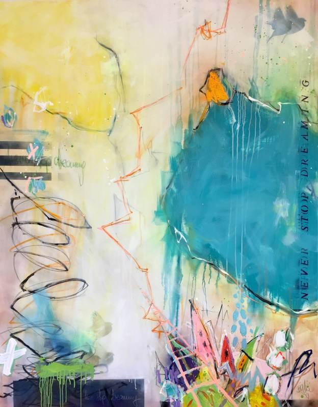 Bea GARDING SCHUBERT - Painting - never stop dreaming I