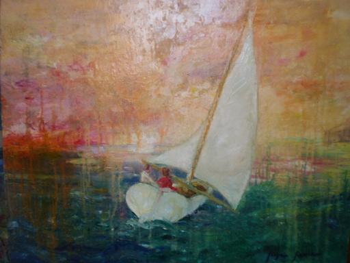 Serge SIEVIC - Peinture - coeur en liberté
