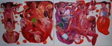 Maja OBRADOVIC - Peinture - Slojevi memorije (Memory layers)