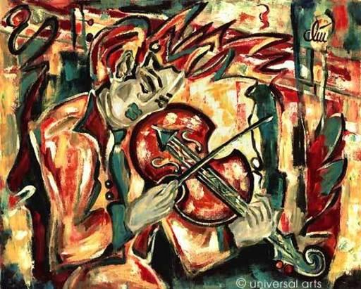 Jacqueline DITT - Peinture - Violin (Violine)