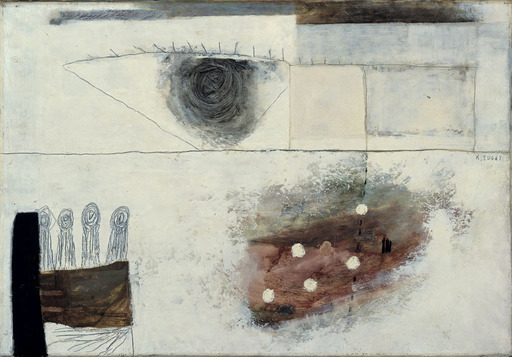 Kumi SUGAI - Peinture - FEMME A LA FENÊTRE - 1954