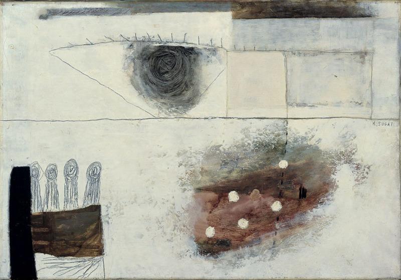 Kumi SUGAI - Pittura - FEMME A LA FENÊTRE - 1954