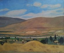 Avraham AZEMON - Pittura - The Valley