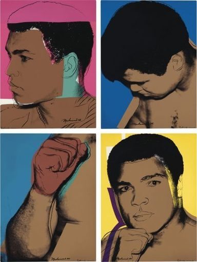 Andy WARHOL - Print-Multiple - Muhammad Ali (set of 4 screen-prints)