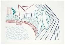 David HOCKNEY - Estampe-Multiple - My Pool and Terrace
