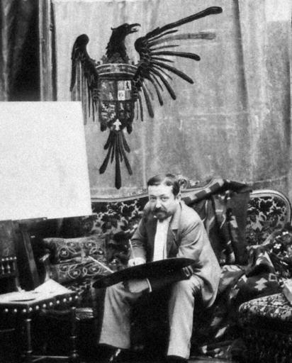 Ulpiano CHECA Y SANZ - Tapiz - Aigle –Águila –escudo