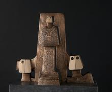 Hubert MINNEBO - Sculpture-Volume - Sober en onthecht kwam hij terug van Shravana Belgola, de Ja