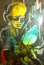 Ladislas KIJNO - Painting - Le jeune BOUDDHA