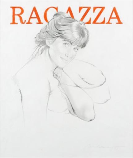 Mel RAMOS - Disegno Acquarello - Ragazza