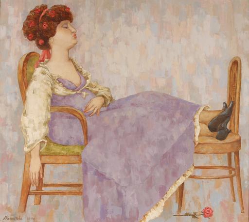 Elena KALLISTOVA - Painting - Pregnancy