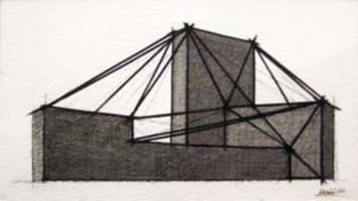 Giuseppe UNCINI - Painting - Progetto (Spazi di ferro)