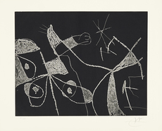 Joan MIRO - Print-Multiple - Serie Mallorca - Negro y blanco VI