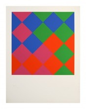 Max BILL - Estampe-Multiple - Farb-Quadrate