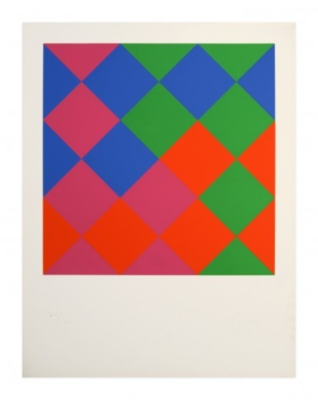 Max BILL - Print-Multiple - Farb-Quadrate