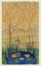Nathalie GONTCHAROVA (1881-1962) - Water Lilies