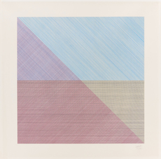 Sol LEWITT - Grabado - Eight squares with a different color in each half square