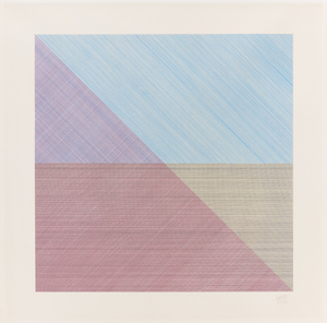 Sol LEWITT - Print-Multiple - Eight squares with a different color in each half square
