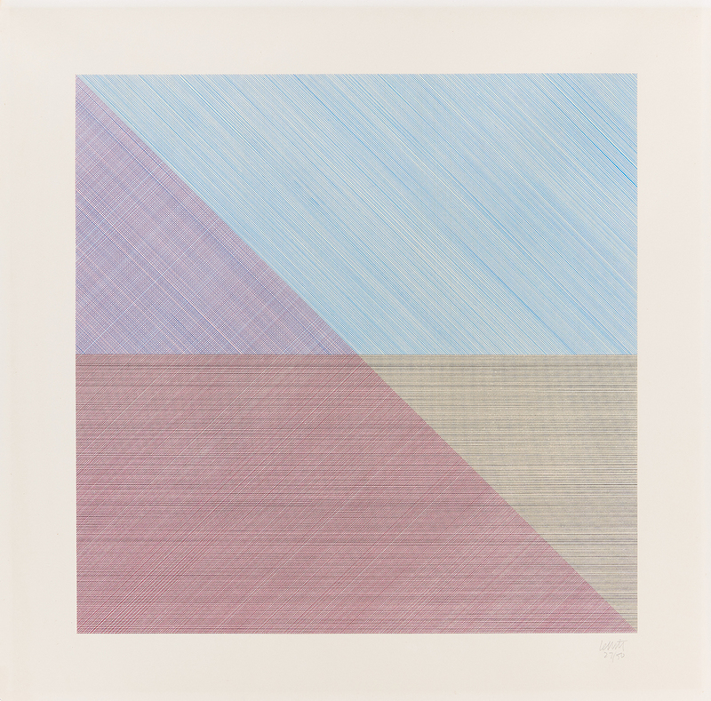 Sol LEWITT - Estampe-Multiple - Eight squares with a different color in each half square