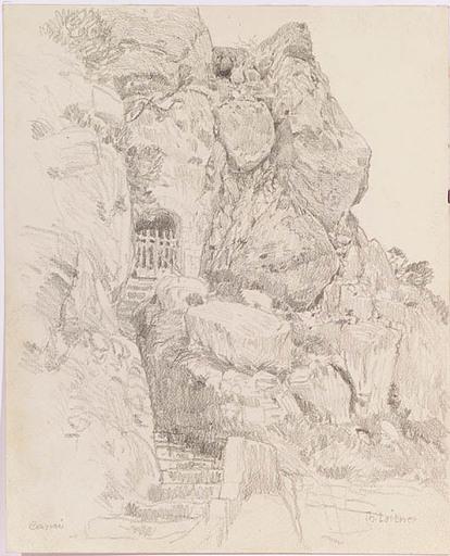 Thomas LEITNER - Zeichnung Aquarell - Motive of Capri, ca 1900