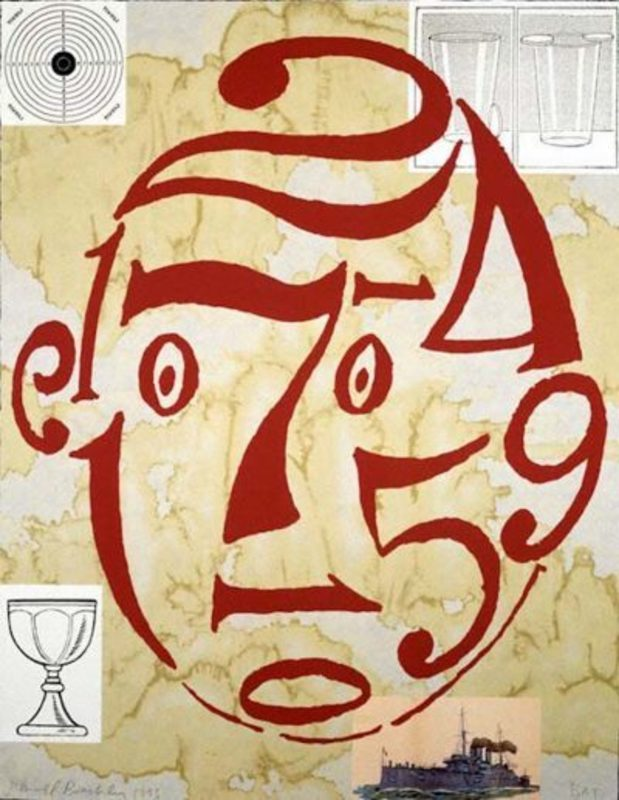 Donald BAECHLER - Print-Multiple - Untitled (Arithmetic Head)