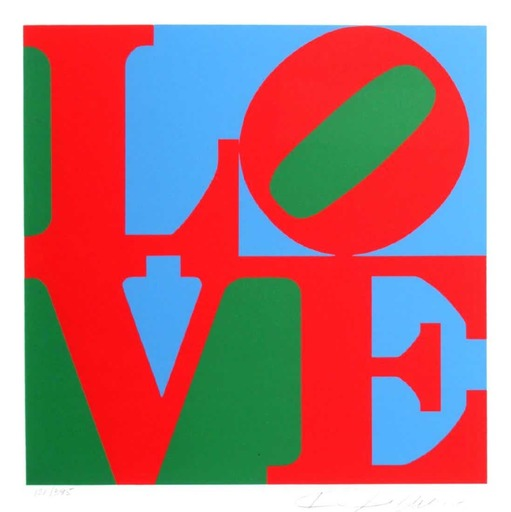 Robert INDIANA - Grabado - Love (Red Green Blue)
